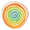 Marmont Hill 'Spiral Rainbow' Graphic Art Wrapped on Canvas