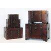 Noor Living 5 Piece Wooden Trunk Set