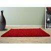 UK Furnishing UK Ltd Opus Shaggy and Flokati Red Area Rug