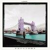 """DEInternationalGraphics Graphic Print """"London Bridge"""" by Anne Valverde"""