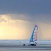 """DEInternationalGraphics Acrylglasbild """"Sunset Char à voile"""" von Georges-Félix Cohen, Fotodruck"""