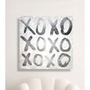 Oliver Gal 'XOXO Silver' by Art Remedy Typography Wrapped on Canvas
