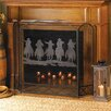 Zingz & Thingz Metal Cowboy Round up Fireplace Screen