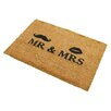 Artsy Doormats Kokosmatte Mr and Mrs
