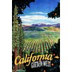 Marmont Hill Travel Poster California Vintage Advertisement Wrapped on Canvas