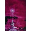"""Marmont Hill """"Fuchsia Waters"""" by Curtis Publishing Art Print Wrapped on Canvas"""