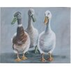 Three Posts 'Lyndon The Three Amigos' by Louise Brown Acrylic Painting Print on Canvas