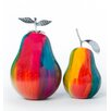 Finesse Décor 2 Piece Forbidden Pear Sculpture Set