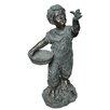 Ambiente Haus Boy with Birdbath Statue
