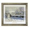 "Goebel Gerahmtes Glasbild ""Winterlandschaft"" von Claude Monet, Kunstdruck"