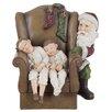 Die Saisontruhe Weihnachtsschmuck Chair and Child and Santa Claus