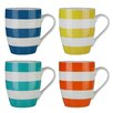 Wildon Home Stripe 4 Piece Mug Set