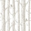 NuWallpaper The Forest Grey 5.5m L x 52cm W Floral and Botanical Roll Wallpaper