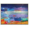 Artist Lane 'North South Drift #2' by Alan Annells Framed Art Print on Wrapped Canvas