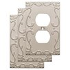 Franklin Brass Classic Lace 1 Gang Duplex Wall Plate (Set of 3)