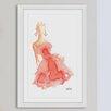 """Marmont Hill Gerahmtes Poster """"Peach Lady"""" von Lovisa Oliv, Kunstdruck"""
