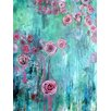 """Buy Art For Less """"Climbing Roses I"""" by Annie Flynn Painting Print on Wrapped Canvas"""