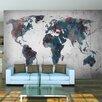 Artgeist World Map on the Wall 309cm x 400cm Wallpaper
