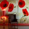 Artgeist Painted Poppies 1.93m x 250cm Wallpaper