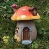 Castleton Home Mystical Mushroom Fairy Garden House with LED Light Decoration