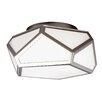 Feiss Diamond 2 Light Flush Ceiling Light