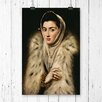 Big Box Art 'Lady in a Fur Wrap' by El Greco Painting Print