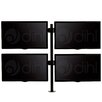 "Dihl Quad Arm Desk Mount Stand for 13""-24"" Screens TV"