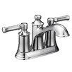 Moen Dartmoor Standard Centerset Bathroom Faucet Double Handle with Drain Assembly