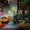 """Marmont Hill """"New York Street Lights"""" by Rick Novak Painting Print on Wrapped Canvas"""