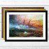 Big Box Art Slave Ship by J.M.W. Turner Framed Painting Print