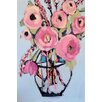 Marmont Hill 'Lots Of Pink Flowers' by Michelle Rivera Painting Print on Wrapped Canvas