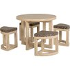 Mercury Row Wansley Dining Set with 4 Chairs