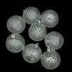 Northlight Seasonal Transparent Diamond Cut Shatterproof Christmas Ball Ornament (Set of 8)