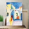 Big Box Art 'View into a Lane 2' by August Macke Painting Print on Canvas