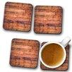 Big Box Art Wooden Flooring Coaster (Set of 4)
