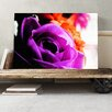 Big Box Art Flower Purple Rose Photographic Print on Canvas