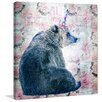 """Marmont Hill """"Party Bear"""" by Morgan Jones Graphic Art on Wrapped Canvas"""
