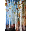 """Marmont Hill """"Autumn Leaves"""" by Christine Lindstrom Painting Print on Wrapped Canvas"""