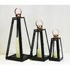 Noor Living 3 Piece Metal Lantern Set