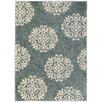 Charlton Home Cowden Exploded Medallions Woven Bay Blue/Cream Area Rug