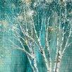 Red Barrel Studio Blue Birch Framed on Canvas
