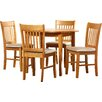 Three Posts Lincklaen Extendable Dining Set with 4 Chairs