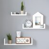 Riley Ave. Sheila 3 Piece Floating Shelf Set