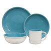 Over and Back Coastal 16 Piece Dinnerware Set, Service for 4