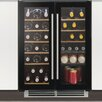 Caple 38 Bottle Dual Zone Built-In Wine Refrigerator