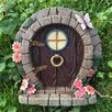 Castleton Home Decorative Fairy Hobbit Style with Flowers And Butterfly Garden Door Statue