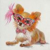 Vintage Boulevard Dogs Carnival I Wall Art on Canvas