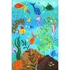 "Marmont Hill ""Happy Fish III"" by Nicola Joyner Painting Print Canvas Art"