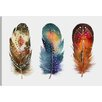 Marmont Hill 'Colored Feathers' Graphic Art Wrapped on Canvas