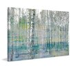 Parvez Taj 'Teal Tree Forest' by Parvez Taj Painting Print on Wrapped Canvas